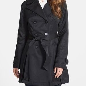 Laundry Black double breasted trench coat